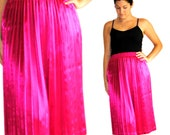 SALE Vintage Skirt -- Vintage Hot Pink Pleated Skirt by DIVERSITY -- Spring Fashion -- Summer Fashion -- Gifts for Her