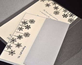Winter Wedding Invitations Snowflakes winter wedding