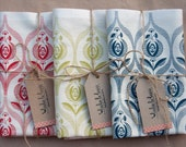 Art deco rose tea towel set of 3