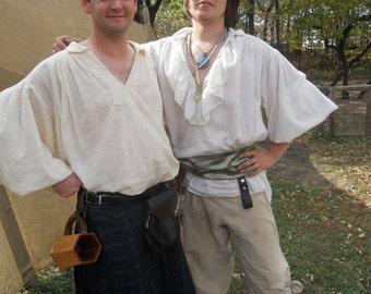 Youth WRAP PANTS & bag Tan Renaissance Pirate Pants Gypsy LARP