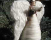 Needle felted Angel Christmas Tree Topper, hand made, unique Christmas decor