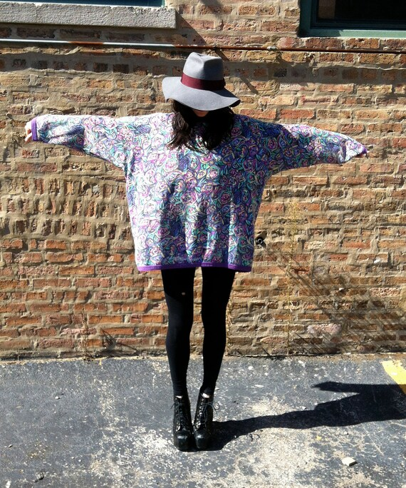 """Vintage Over Sized Floral Sweatshirt """"Bayba"""" 30% Off at Checkout"""