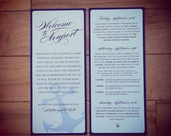 Wedding Itinerary: Anchor Welcome Cards