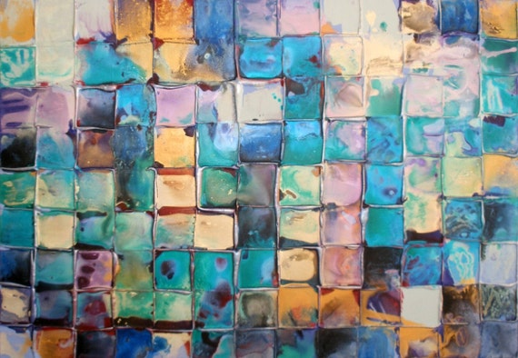 XL Original Modern Art by Caroline Ashwood - Textured and contemporary abstract painting on canvas - FREE SHIPPING