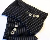 Black Pinstripe Spats