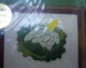 Vintage Jiffy Stitchery kit with Cauliflower