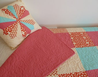 Cherry Picnic - Twin Quilt