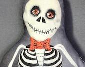 Skeleton Trick or Treat Pillow