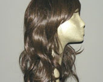 Gabriella //  WIG SALE - Beautiful Long Chocolate Brown Wig  Synthetic Hair