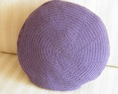 Pillow Cover - Crochet. Purple & Lilac - Ying-Yang Series