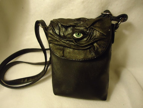 Leather Purse LARP Card Bag Goth Halloween Witch Wiccan Pagan