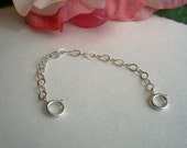 Removable Sterling Silver Guard Chain for Charm Bracelet or any Bracelet