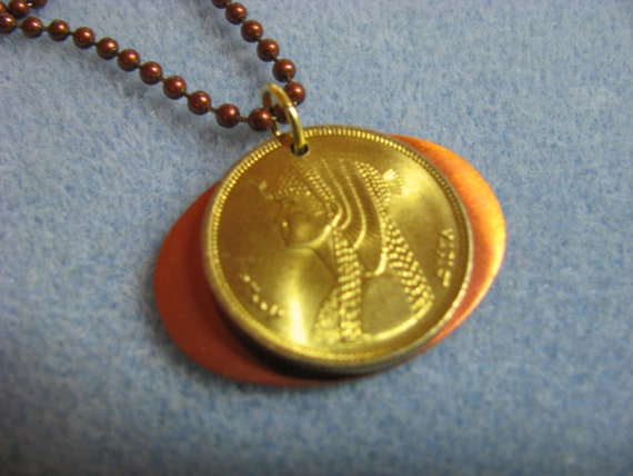 Cleopatra Egyptian Coin Necklace