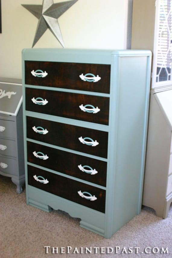 Cottage Green Tallboy Dresser