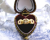 Edwardian Antique Diamond Ring 18ct Gold Ruby Wedding Betrothal