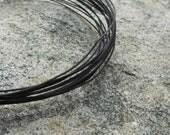 pkg of (20) feet - Black Oxidized 26 gauge copper wire