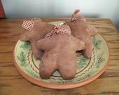 Cookies For Santa Set of 3 Simple and Primitive Gingerbread Bowl Fillers/Tucks