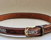 Wrangler Tooled Leather Belt
