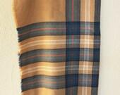 Vintage Scottish Plaid Scarf