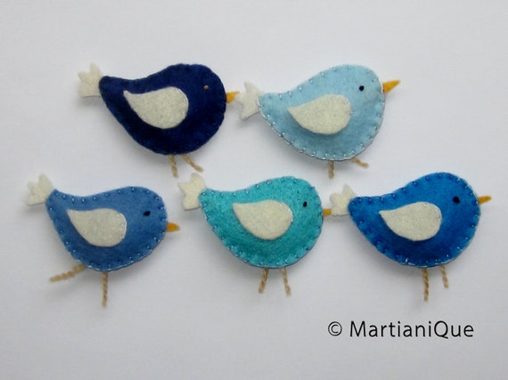 Blue Birds Mobile