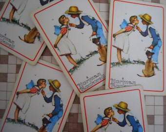 Nostalgic Vintage Norman Rockwell Playing Cards