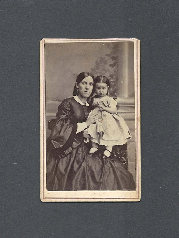 Early CDV of a Well Dressed Mother and Child
