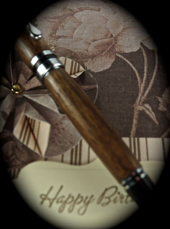 Hand turned Ink Pen Classic Style Handcrafted from Beautiful Walnut with Chrome Hardware 302M