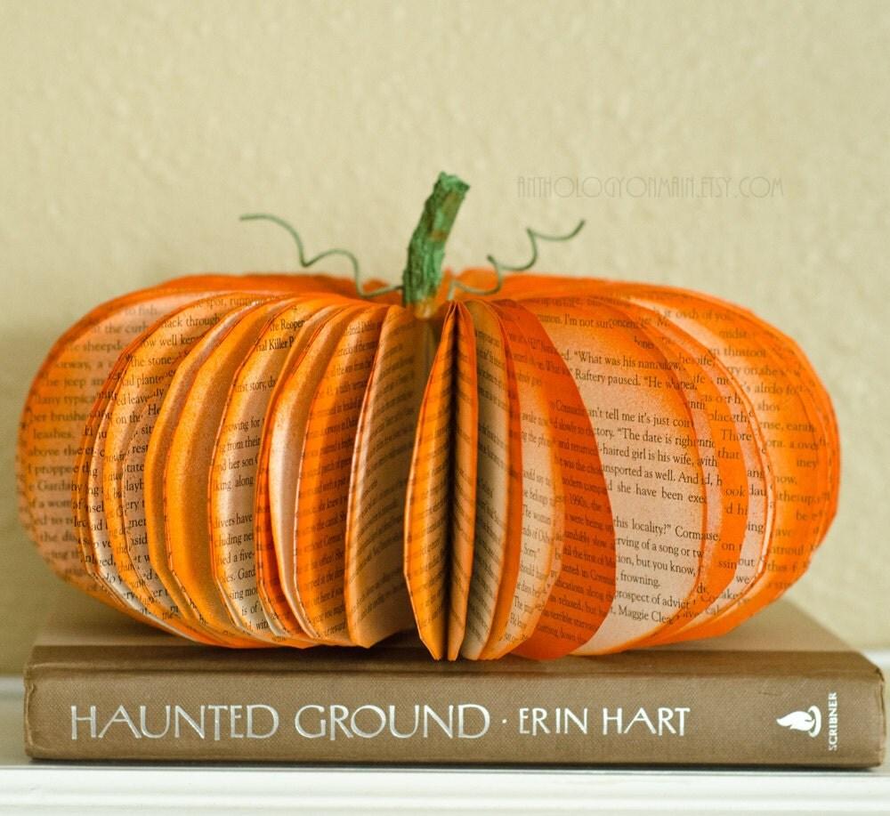 Medium Thanksgiving Pumpkin Decoration Orange Fall Autumn