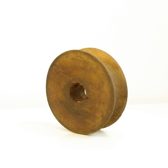 Wooden Pulley Wheel - Cottage Chic - Rustic - Vintage Farm