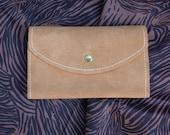 70s Suede Wallet Checkbook