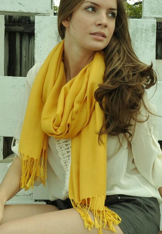 YELLOW PASHMINA Scarf/Shawl. Bridal Shawl. Bridesmaid shawl. Wedding Favors. Pashmina Shawl. Yellow Pashmina Scarf.
