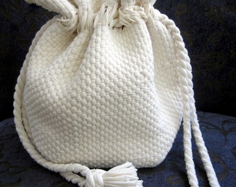 "Vintage 1940""s 50's  Draw String Mountain Dell Bag...."
