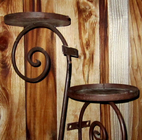 Rustic Scroll: Vintage Rustic Wrought Iron Scroll Design By JewelsRosesNRust