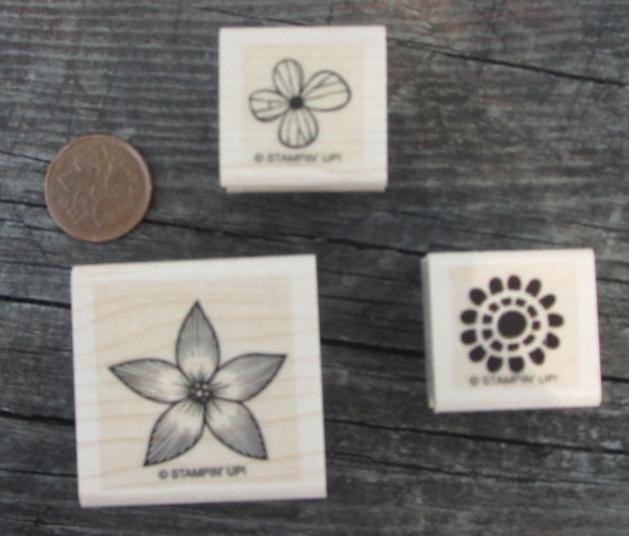 Stampin Up - 3 floral stamps