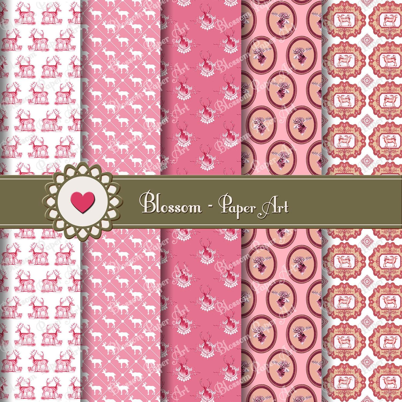 Papeles decorativos digitales rosa papeles digitales para - Papeles decorativos pared ...