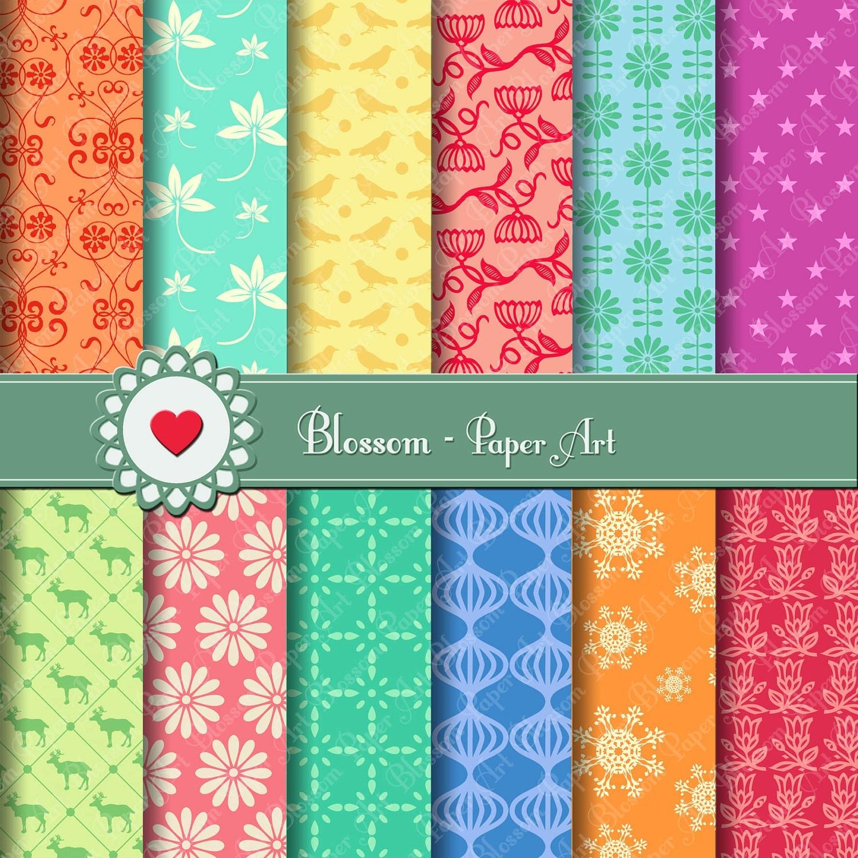 Papeles digitales para imprimir papeles decorativos - Papeles para decorar ...