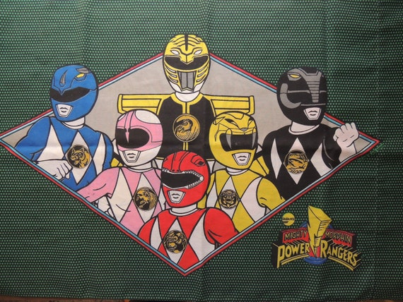 Pillow Case Vintage Mighty Morphin Power Rangers, Green