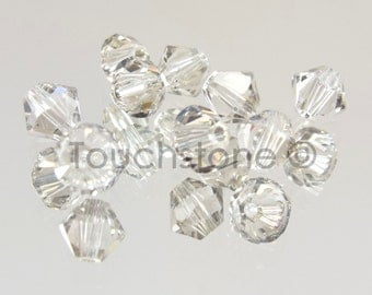 4mm Crystal Silver Shade Swarovski Crystal Bicone Beads 72 Beads #45-1207