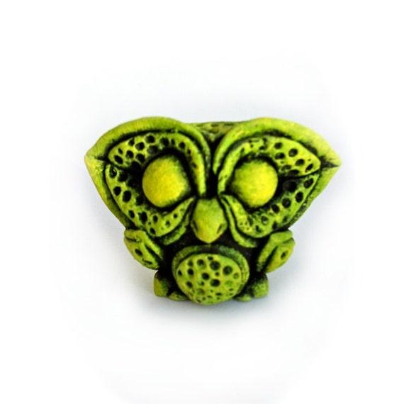 Resin Mini Figure, Owl, Fake Glow, collectible Art Toy, Sculpture