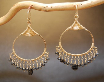 Filigree earrings with your choice of gemstone color Kashmir 29