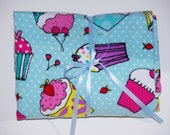 Cupcake Scribbles Baby/Toddler Crib Sheet -Fitted Cotton Flannel Sheet