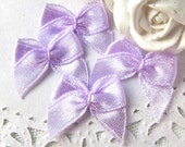 20mm Grosgrain small ribbon bows wedding Lavender 50PCS (13-11-247)