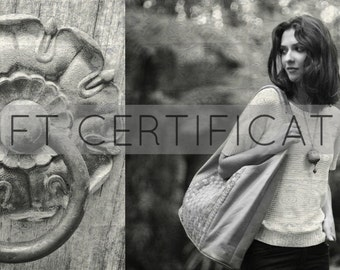 Gift certificate 105.  Gift for her. Email gift certificate. Leather gifts / birthday gift / leather bag.