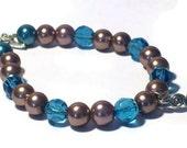Brown and Blue Bracelet