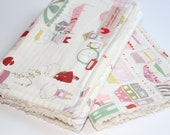 Baby girl burp cloths, Market stalls and friends.  Ready to Ship