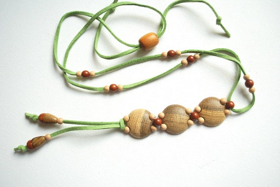Ash tree,juniper,birch-Wood necklace-Nature,eco friendly,handmade-Wood,woodland-Rustic,rustical.