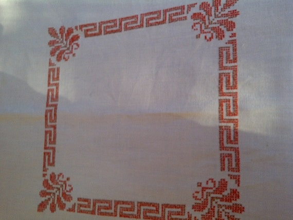 Bordered Cross Stitch Tablecloth