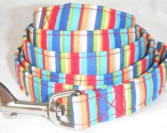 Dog Leash - Bright Stripes