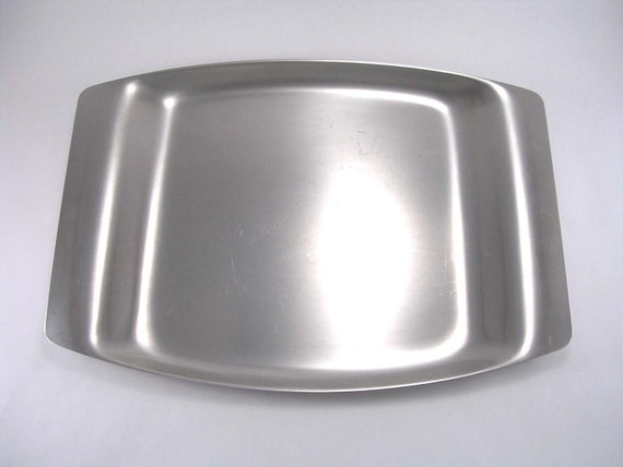 Vintage WMF Cromargan 18/8 Stainless Steel Serving Tray -- Danish Modern, Retro, Cool