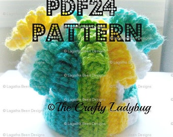 Super Silly Curly Q crochet hat pattern - newborn to adult sizes - PDF24